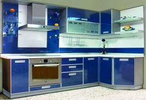 Кухня с фасадом Пластик-004