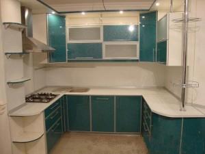 Кухня с фасадом Пластик-005