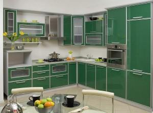 Кухня с фасадом Пластик-007