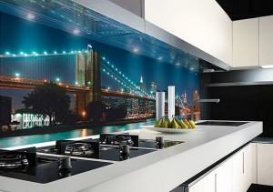 Кухня с фасадом Пластик-011