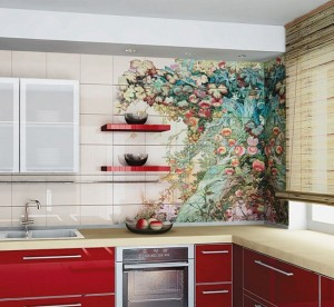 Кухня с фасадом Пластик-012