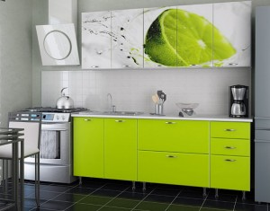 Кухня с фасадом Пластик-013