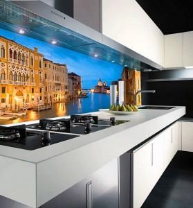 Кухня с фасадом Пластик-014