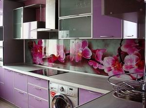 Кухня с фасадом Пластик-015