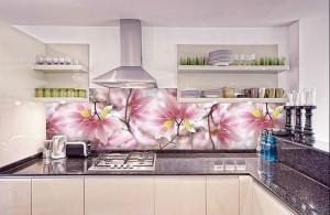 Кухня с фасадом Пластик-016