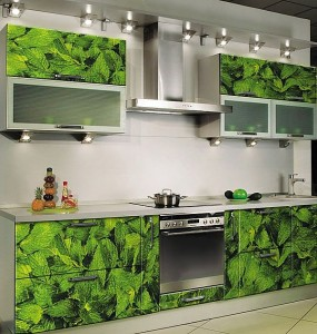 Кухня с фасадом Пластик-017