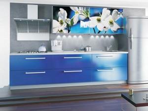 Кухня с фасадом Пластик-018