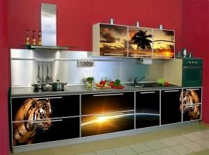 Кухня с фасадом Пластик-020