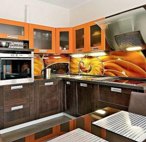 Кухня с фасадом Пластик-021