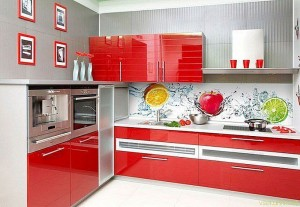 Кухня с фасадом Пластик-027