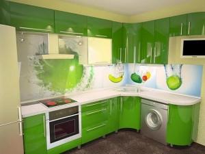 Кухня с фасадом Пластик-028