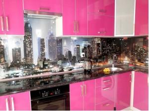 Кухня с фасадом Пластик-029