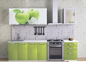 Кухня с фасадом Пластик-031