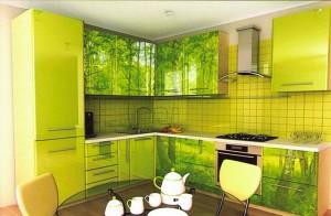 Кухня с фасадом Пластик-034