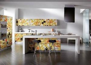 Кухня с фасадом Пластик-035