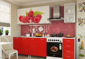 Кухня с фасадом Пластик-039
