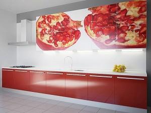 Кухня с фасадом Пластик-041