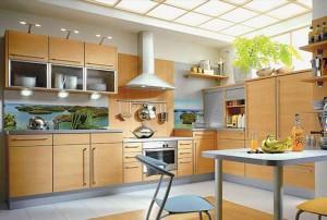 Кухня с фасадом Пластик-042