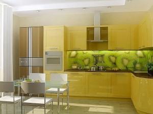Кухня с фасадом Пластик-043