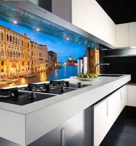 Кухня с фасадом Пластик-046
