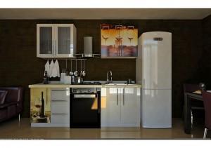 Кухня с фасадом Пластик-054