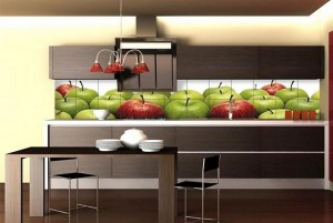 Кухня с фасадом Пластик-056