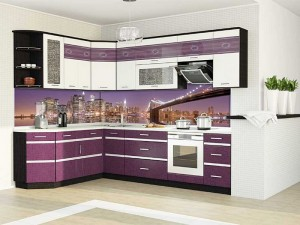 Кухня с фасадом Пластик-058