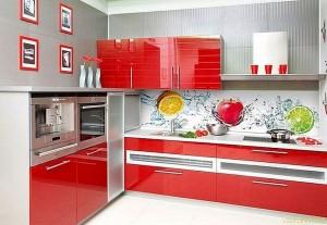 Кухня с фасадом Пластик-059