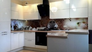 Кухня с фасадом Пластик-063