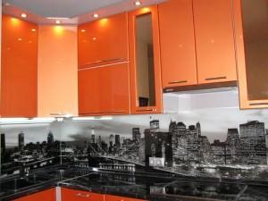 Кухня с фасадом Пластик-069