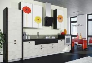 Кухня с фасадом Пластик-071