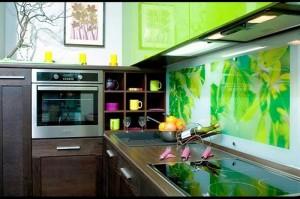 Кухня с фасадом Пластик-073