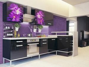 Кухня с фасадом Пластик-074