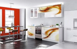 Кухня с фасадом Пластик-075