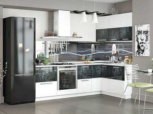 Кухня с фасадом Пластик-076