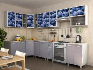 Кухня с фасадом Пластик-078