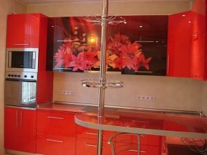 Кухня с фасадом Пластик-080