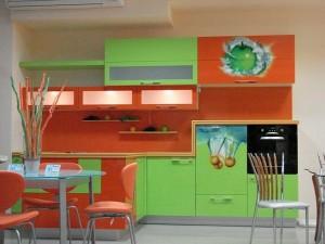 Кухня с фасадом Пластик-081
