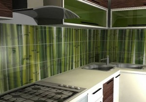 Кухня с фасадом Пластик-082