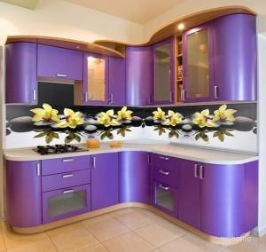 Кухня с фасадом Пластик-083