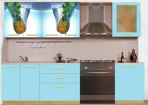 Кухня с фасадом Пластик-084