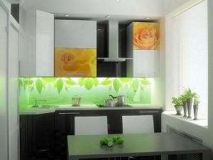 Кухня с фасадом Пластик-088