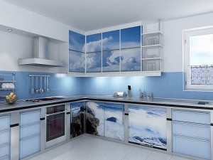 Кухня с фасадом Пластик-091